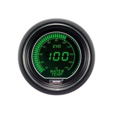 Manomètre Digital Pro-Sport Température d'Eau 52mm140°C Vert/Blanc