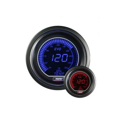 Manomètre Prosport Température Huile Digital Diamètre 52mm 150°C + Sonde